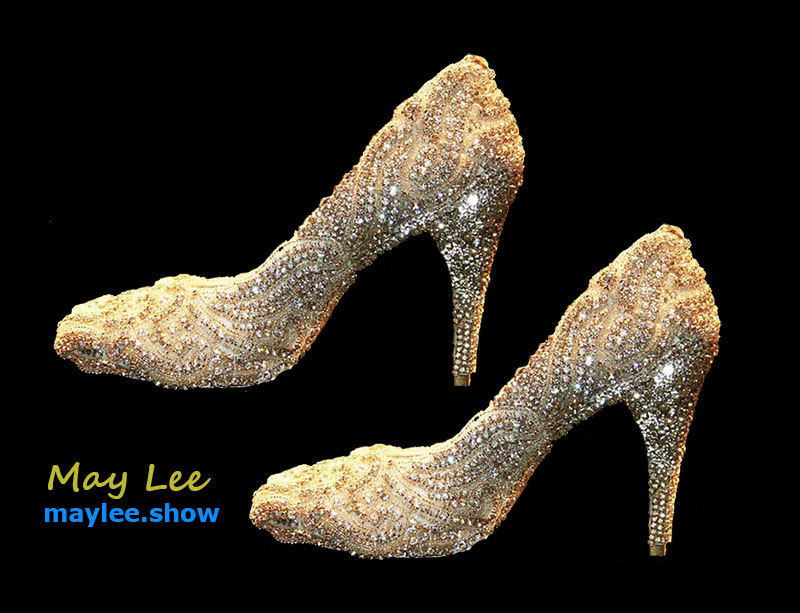 3 maylee.show luxury brands most expensive gold diamond shoes 2