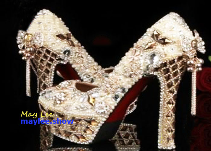 6 maylee.show luxury brands most expensive gold diamond shoes