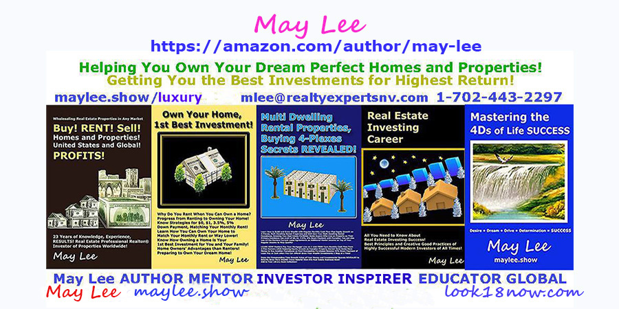 may lee author real estate insvestments stocks business wealth books on maylee.show