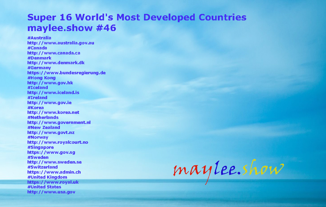 super 16 worlds most developed countries 46 maylee.show