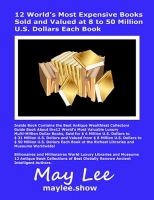 12 World's Most Expensive Books Sold and Valued at 8 to 50 Million U.S. Dollars Each Book